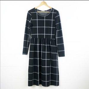 Black / White Windowpane Dress